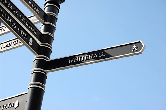 Sign to Whitehall