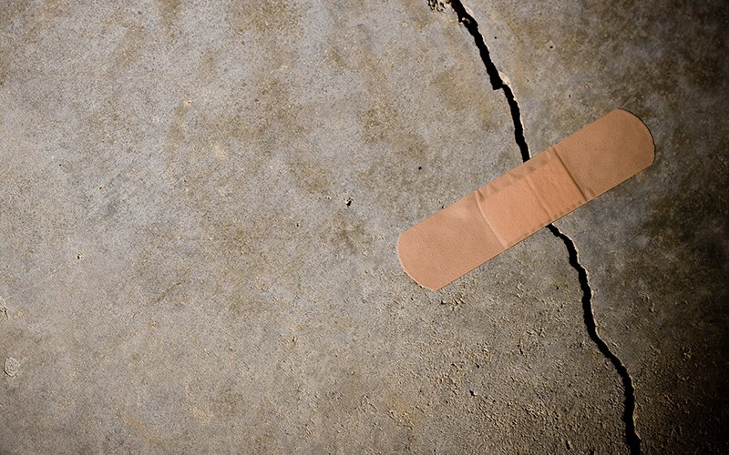 an image of a plaster covering a crack