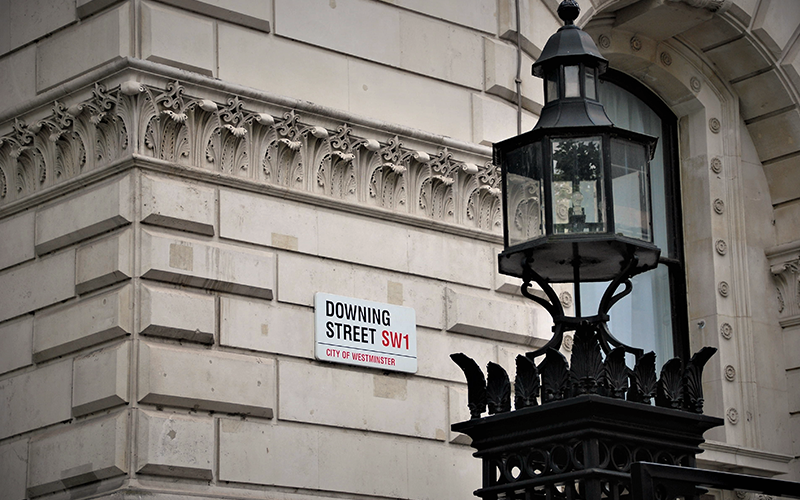 an image of the downing street sign