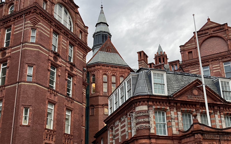 an image of the UCL cruciform building