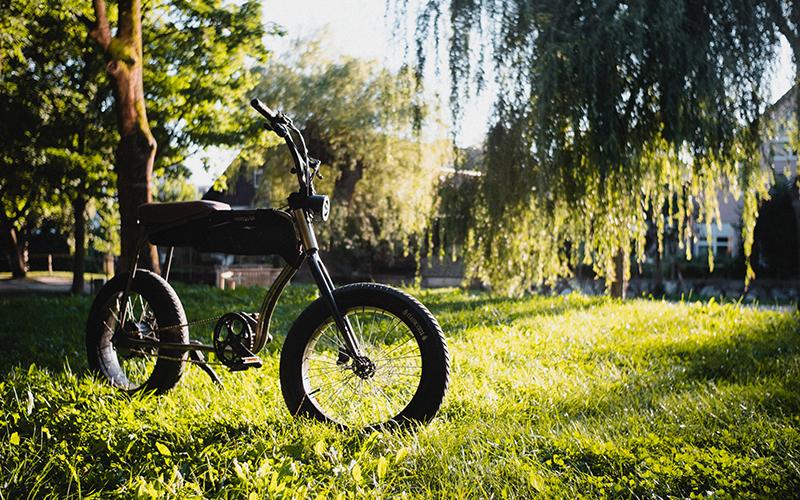 an image of an e-bike on a grassy field