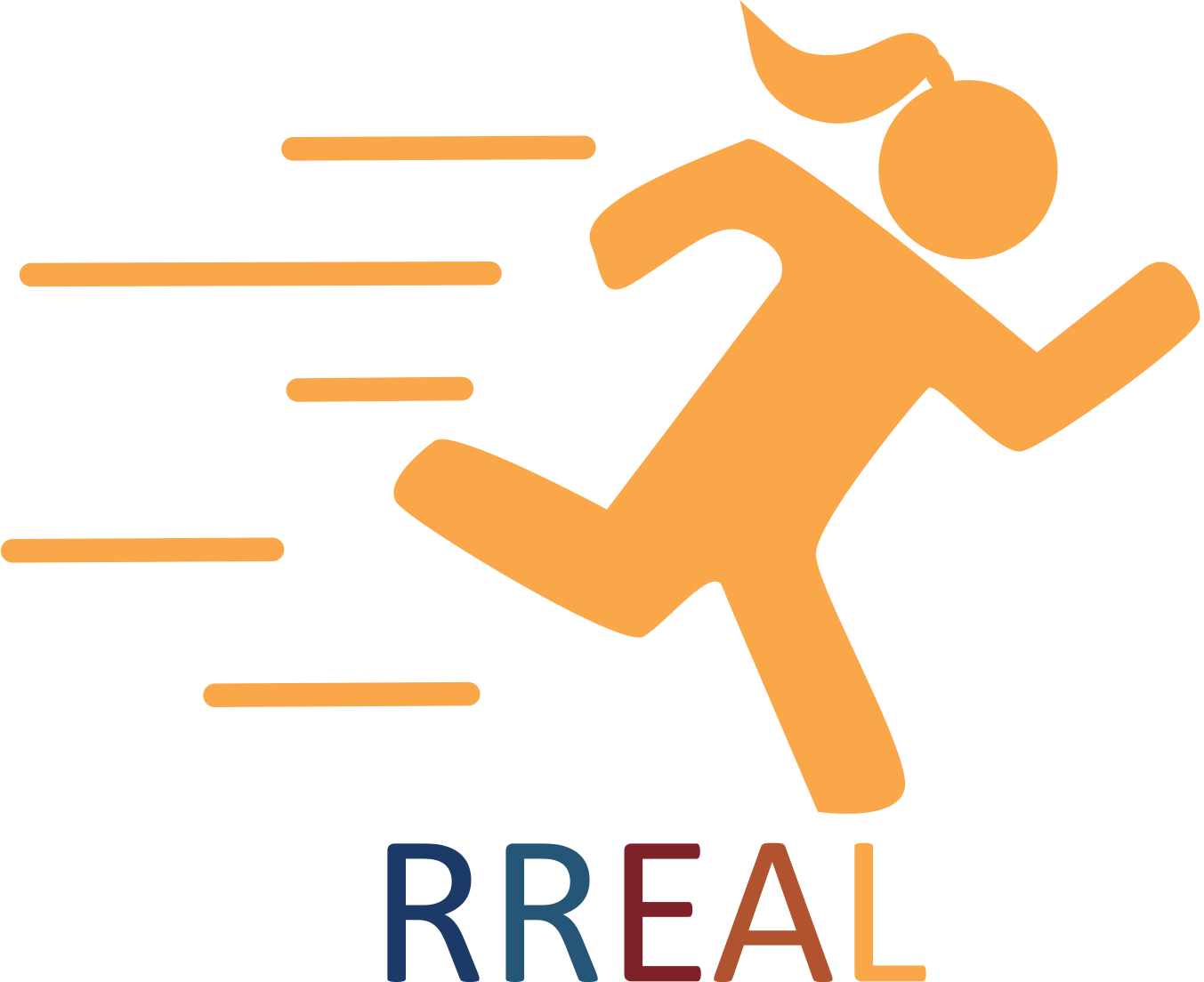 RREAL logo girl