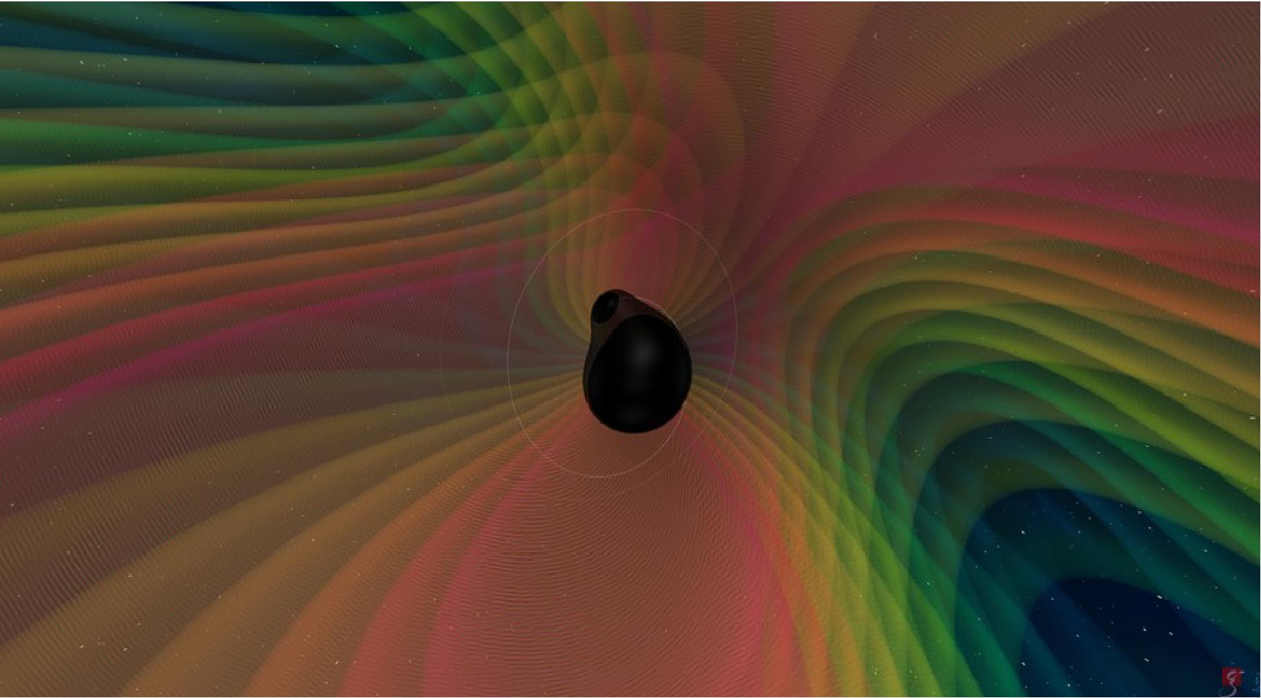 Artist Illustration of gravitational waves