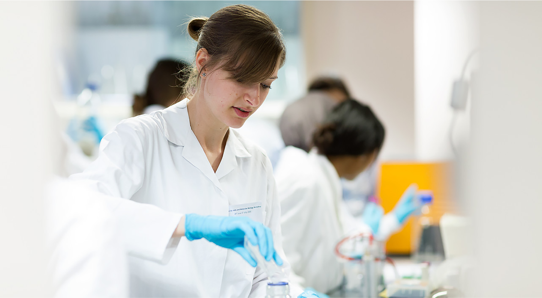 Photo of biolab technician