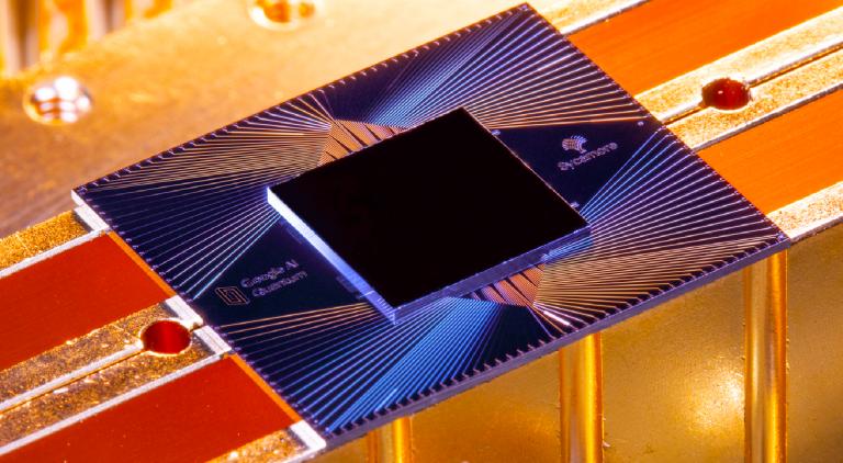 Photo of quantum chip