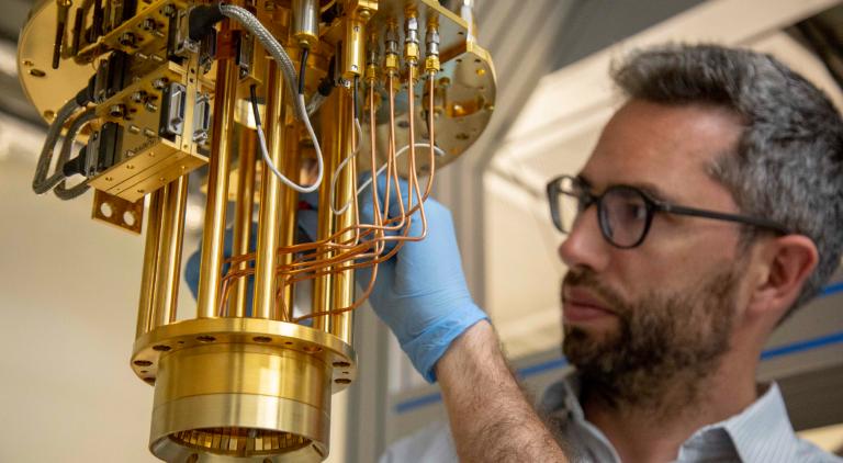 John Morton in UCLQ Lab