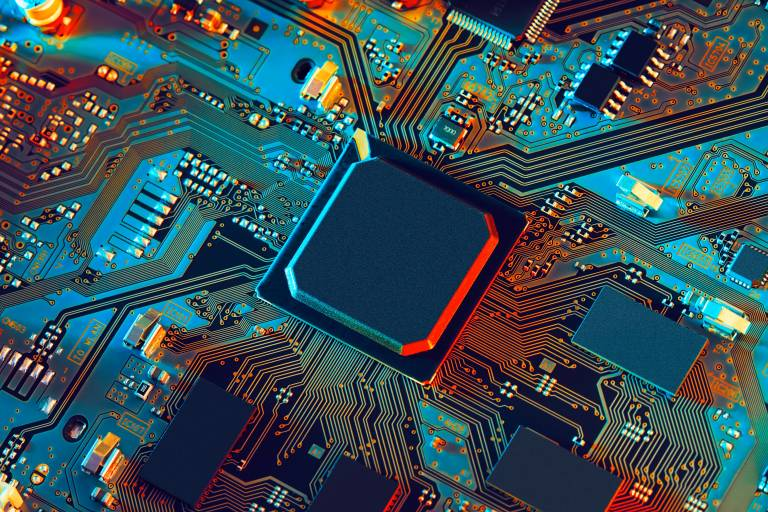 Illustration of silicon chip