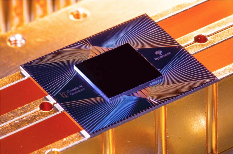 Photo of Google's quantum processor Sycamore