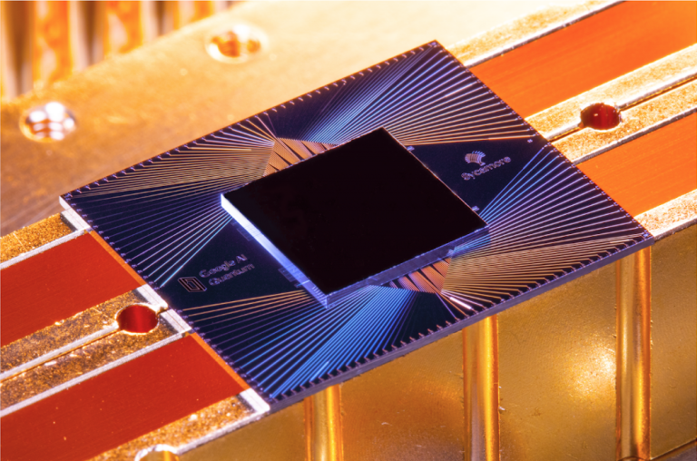 Photo of Google's quantum processor Sycamore