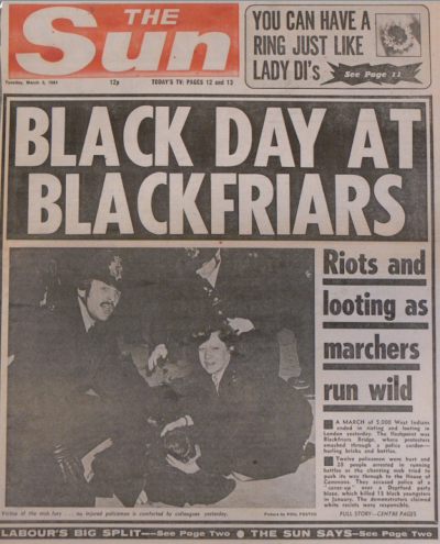 The Sun front page, March 3rd 1981