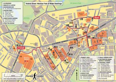 Victoria London Map.Victoria Street Mansion Flats And Model Dwellings Ramble London