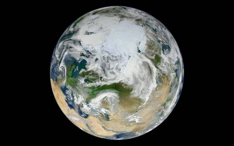 picture of the world from space