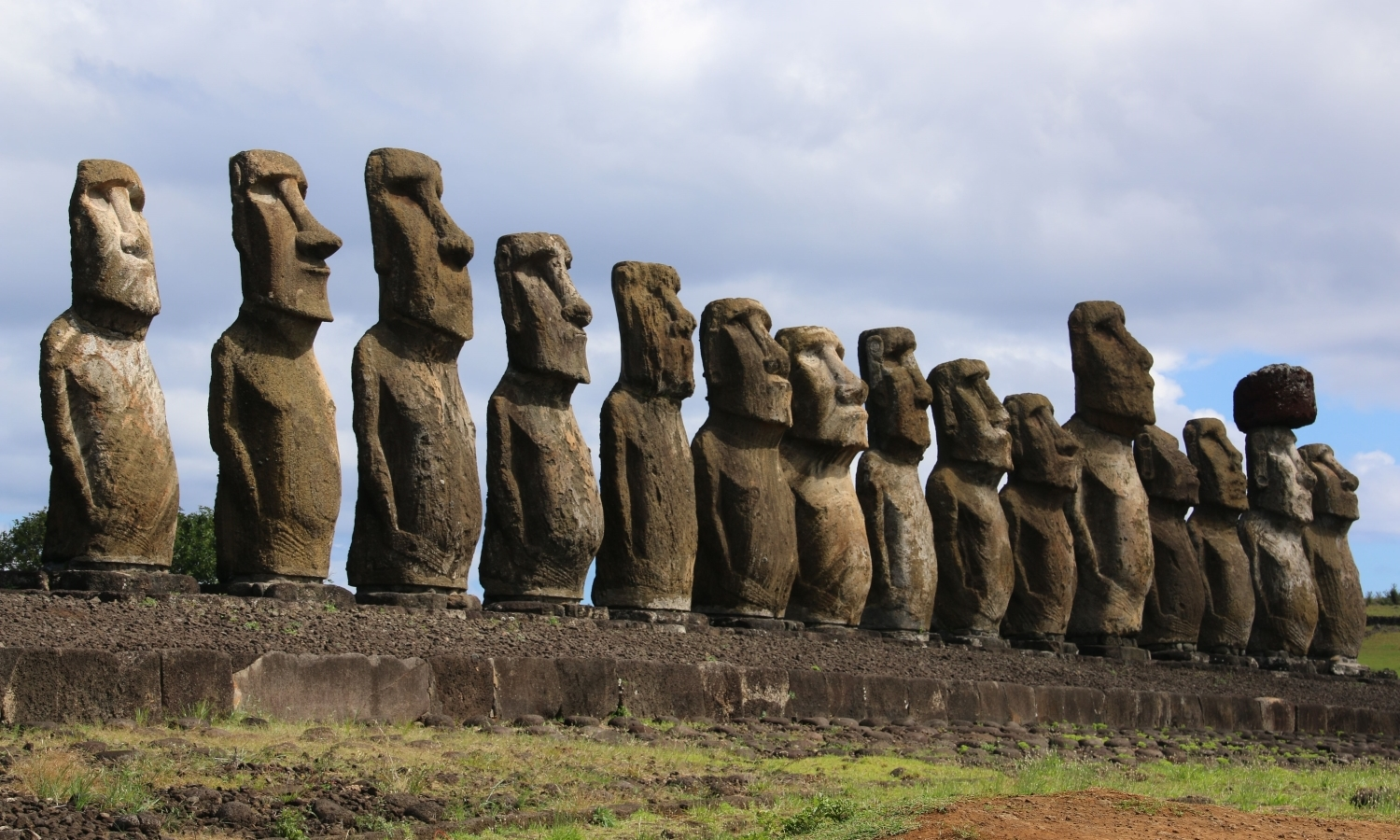 Easter Island Moai. Photographed by Prof Francis Brodsky