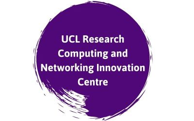 UCL Research Computing and Networking Innovation Centre text on a purple background