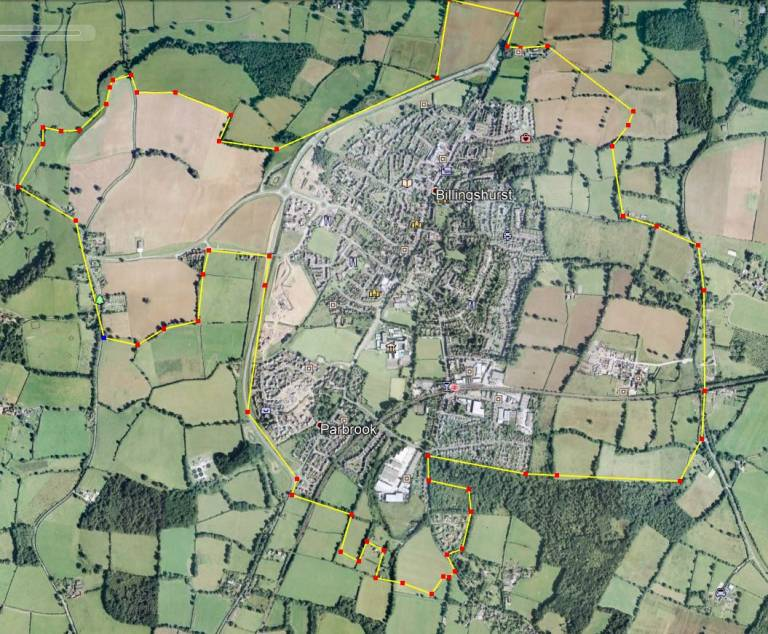 Billingshurst in 2040 compared with 2001
