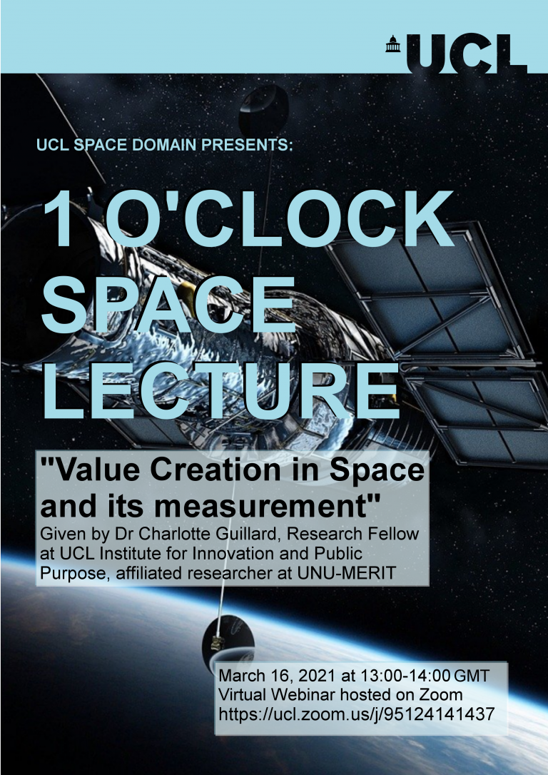 Value creation in space and its measurement by Dr Charlotte Guillard