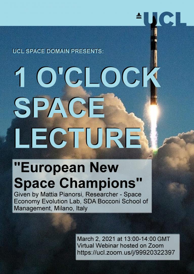 European Space Champions a lecture by Mattia Pianorsi
