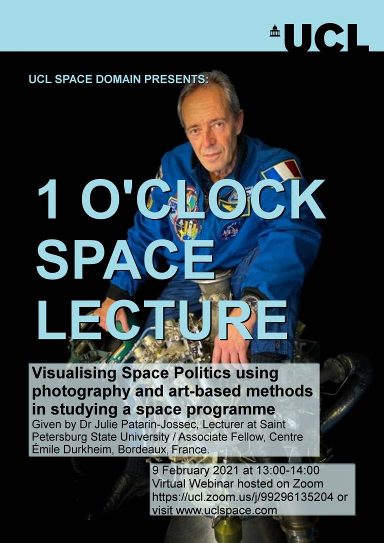"""One O'clock Lecture """"Visualizing Space Politics"""""""