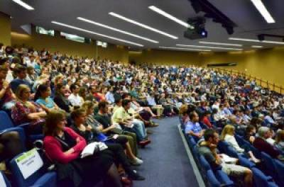 A packed audience at this year's symposium