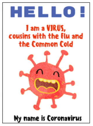 Hello I am coronavirus book cover