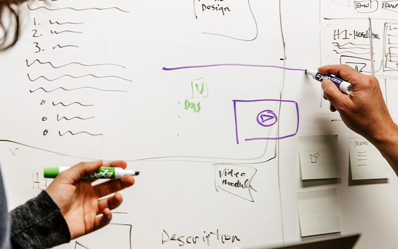 an image of a whiteboard with notes