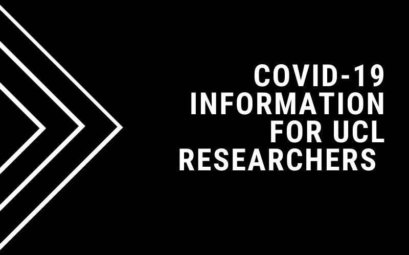 Covid-19 information for UCL researchers