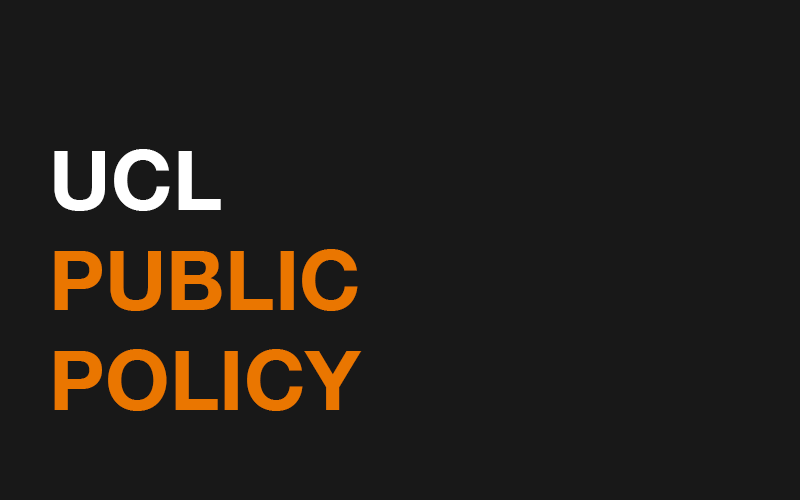 an image saying 'ucl public policy'