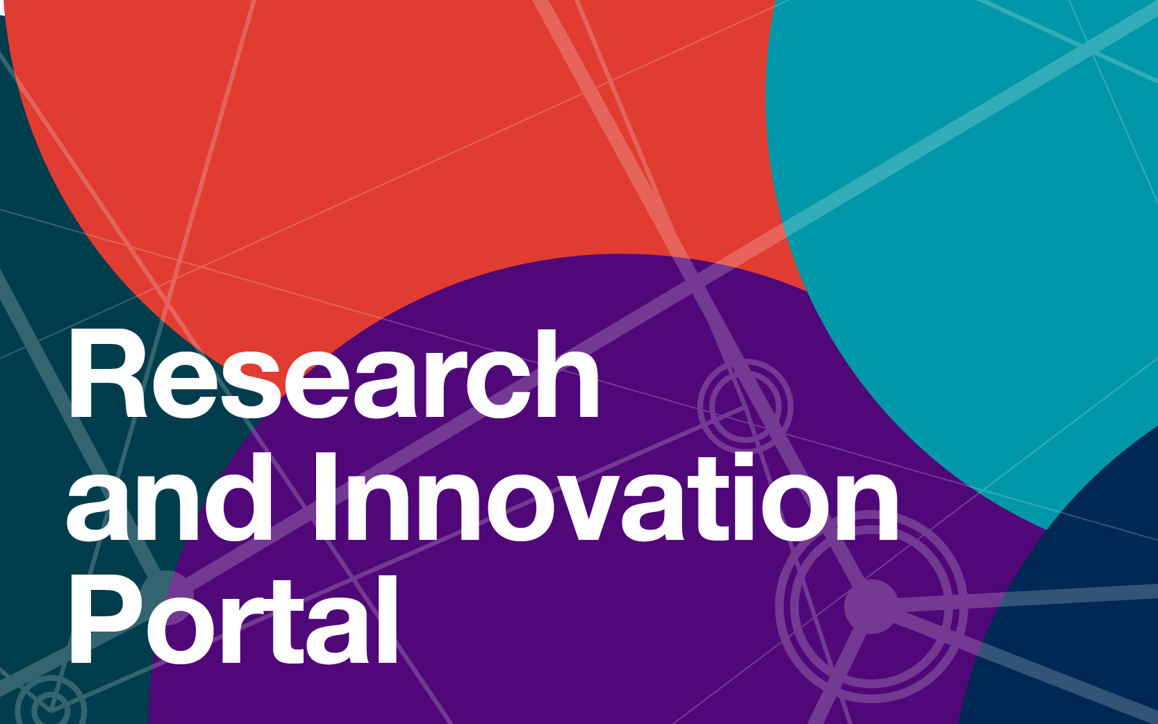 An image with the words Research and Innovation Portal