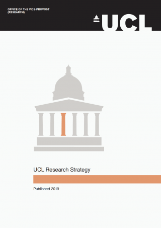 Cover of the UCL 2019 Research Strategy