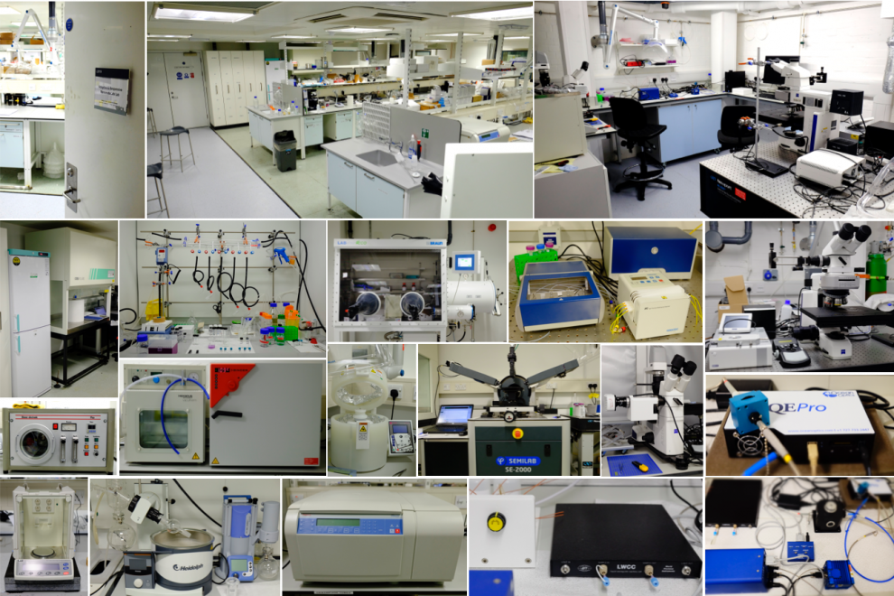 Image of the Adaptive & Responsive Nanomaterials lab in 2019