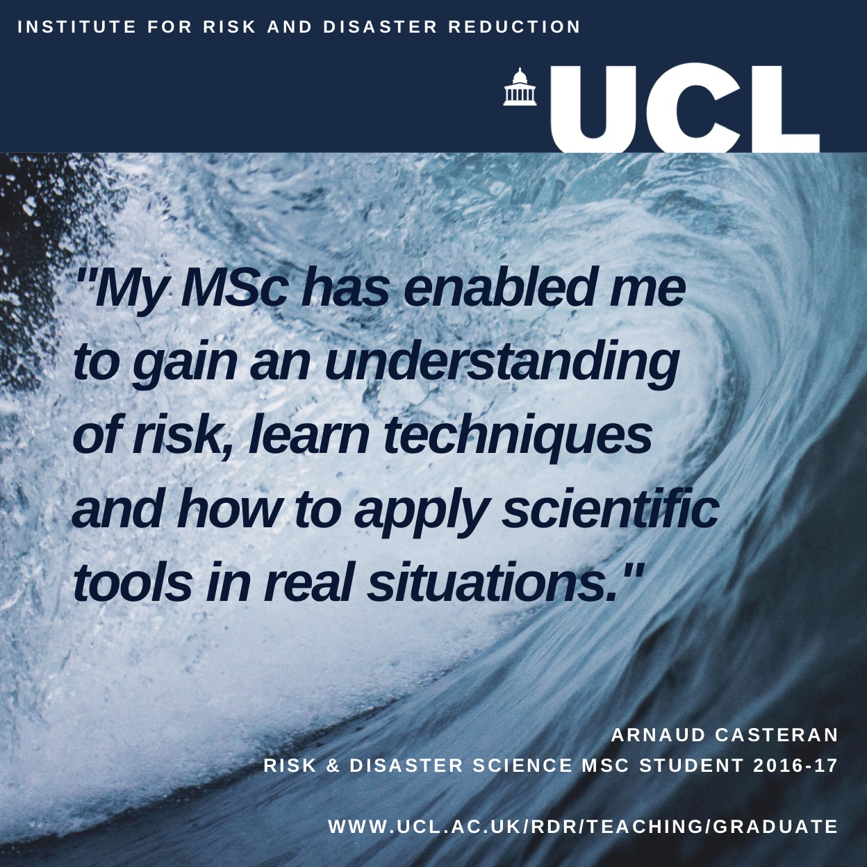 Student quote risk and disaster science