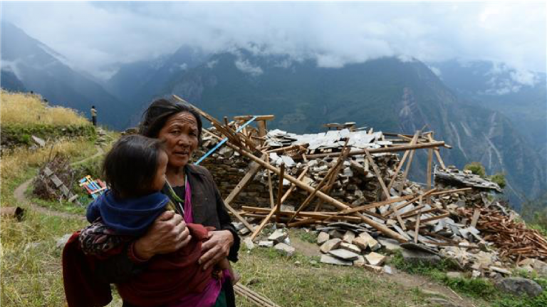 Gorkha earthquake, Nepal, 2015 (Source: gurkhasecurityservices.co.uk)