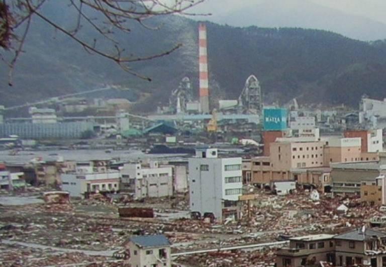 Ofunato after the Tohoku earthquake and tsunami, 2011