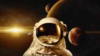 Image of an astronaut on Mars