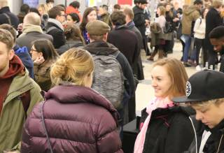 Students at a crowded event