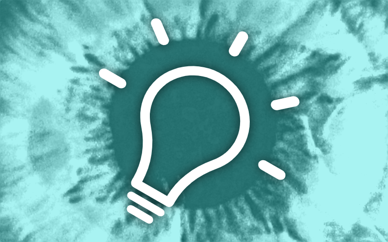 A teaser of a lightbulb illustrating research funding opportunities