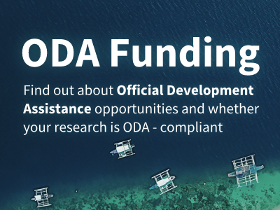 Teaser linking to opportunities and info about Official Development Assistance funding