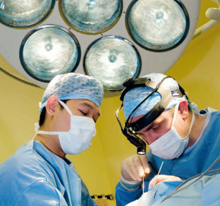 Surgeons operating in OR