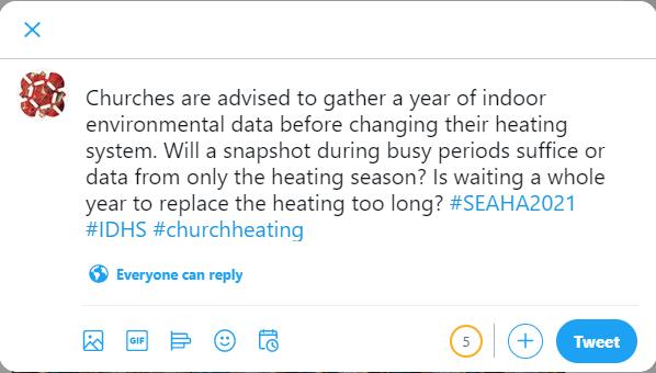 Example of a SEAHA tweet
