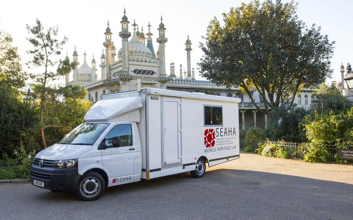 Mobile Heritage Lab at Brighton Pavillion