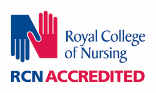 Logo showing course accredited by the Royal College of Nursing
