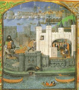 (c) British Library Board The Tower of London, author Charles, Duc d'Orléans, Royal 16 F. II, f.73