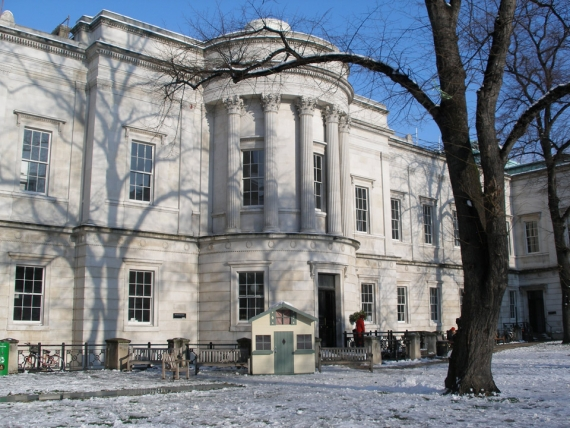 The Slade School of Fine Art in the snow