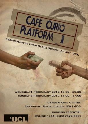 Platform 1: Cafe Curio, Camden Arts Centre Poster