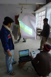 Installation of Student projects for Dryden Goodwin's Workshop, Department of Sculpture, University of Dhaka