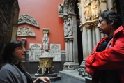 Professor Susan Collins and Professor Lala Rukh at the Victoria and Albert Museum, London