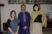 Professor AAMS Arefin Siddique, Vice Chancellor of the University of Dhaka (centre) with Professor Susan Collins and Professor L