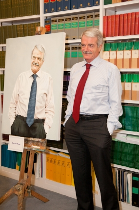 Professor Malcolm Grant with Martine Poppe's winning portrait