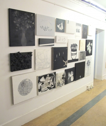 Black and White Flower Painting, 2010