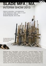 Slade MA/MFA Interim Show 2013 Poster